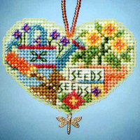 Love Gardening Beaded Charmed Ornaments Kit Mill Hill 2013 I Love