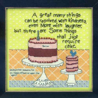 Cake Required Bead Counted Cross Stitch Kit Mill Hill Curly Girl 2013