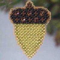 Acorn Beaded Cross Stitch Ornament Kit Mill Hill 2013 Autumn Harvest