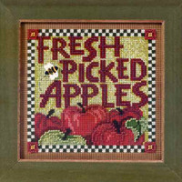 Picked Apples Cross Stitch Kit Mill Hill 2013 Buttons & Beads Autumn