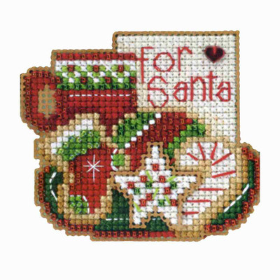 For Santa Beaded Christmas Ornament Kit Mill Hill 2013 Winter Holiday