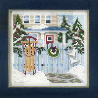 Holiday Memories Cross Stitch Mill Hill 2013 Buttons & Beads Winter