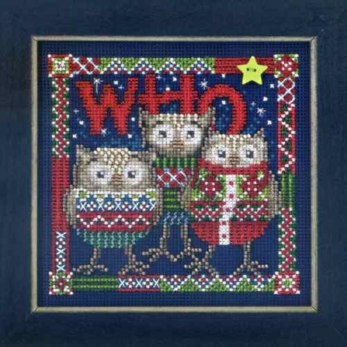 Who Trio Cross Stitch Kit Mill Hill 2013 Buttons /& Beads Winter