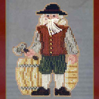 Plymouth Santa Beaded Ornament Kit Mill Hill 2013 Colonial Santas