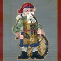 Jamestown Santa Beaded Ornament Kit Mill Hill 2013 Colonial Santas