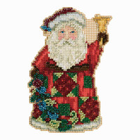 Glad Tidings Santa Cross Stitch Kit Mill Hill 2013 Jim Shore Santas