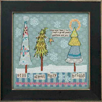 Still Silent Holy Bright Cross Stitch Kit Mill Hill Curly Girl 2013