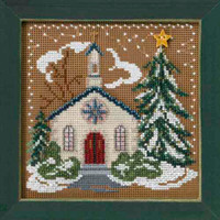 Country Church Cross Stitch Kit Mill Hill 2006 Buttons & Beads Winter