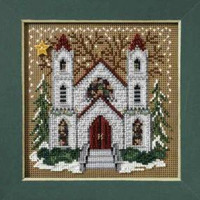 St Nicholas Cathedral Stitch Kit Mill Hill 2007 Buttons & Beads Winter