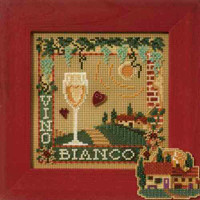 Vino Bianco Cross Stitch Kit Mill Hill 2007 Buttons & Beads Spring