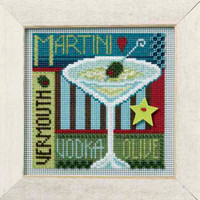 Martini Cross Stitch Kit Mill Hill 2008 Buttons & Beads Spring