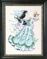 Biancabella Kit Cross Stitch Chart Fabric Beads Silk Floss Mirabilia Designs MD130