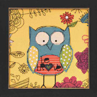 Be Brave Owl Bead Counted Cross Stitch Kit Mill Hill Amylee Weeks 2014