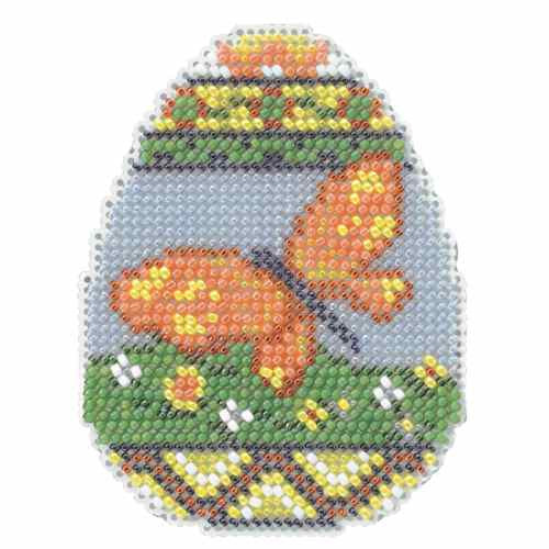 Chick Egg Beaded Cross Stitch Kit Mill Hill 2014 Spring Bouquet