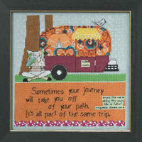 Off Your Path Beaded Cross Stitch Kit Mill Hill Curly Girl 2014