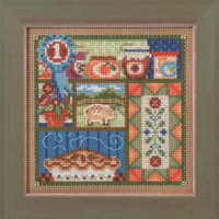 County Fair Cross Stitch Kit Mill Hill 2014 Buttons & Beads Autumn