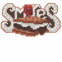Smores Beaded Cross Stitch Kit Mill Hill 2014 Autumn Harvest