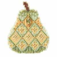 Jeweled Pear Bead Cross Stitch Kit Mill Hill 2014 Autumn Harvest