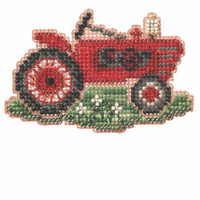 Grandpa's Tractor Bead Cross Stitch Kit Mill Hill 2014 Autumn Harvest