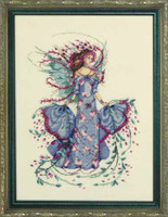 October Opal Fairy Kit Cross Stitch Chart Fabric Beads Braid Mirabilia MD132