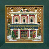 Palace Theater Cross Stitch Kit Mill Hill 2014 Buttons & Beads Winter
