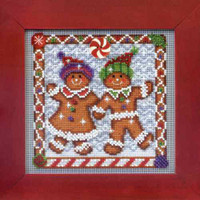 Ginger Friends Cross Stitch Kit Mill Hill 2014 Buttons & Beads Winter