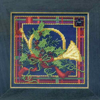 French Horn Cross Stitch Kit Mill Hill 2014 Buttons & Beads Winter