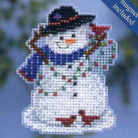 Snow Fun Beaded Cross Stitch Kit Mill Hill 2014 Winter Holiday