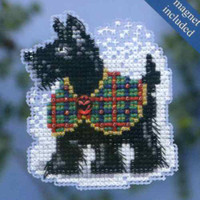 Scottie 2014 Beaded Cross Stitch Kit Mill Hill 2014 Winter Holiday