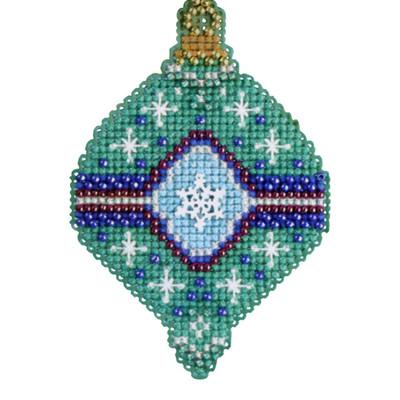 Jade Beaded Cross Stitch Kit Mill Hill 2014 Christmas Jewels