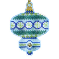Blue Topaz Beaded Cross Stitch Kit Mill Hill 2014 Christmas Jewels