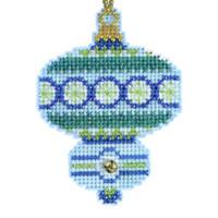 Blue Topaz Beaded Cross Stitch Kit Mill Hill 2014 Christmas Jewels