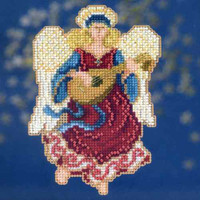 Angelina Bead Christmas Cross Stitch Kit Mill Hill 2014 Angel Trilogy