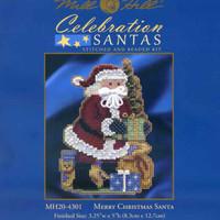 Package insert for Merry Christmas Santa Ornament Kit Mill Hill 2014 Celebration Santas