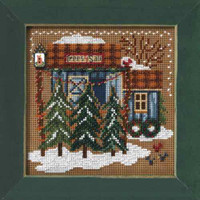 Tree Farm Bead Cross Stitch Kit Mill Hill 2006 Buttons & Beads Winter