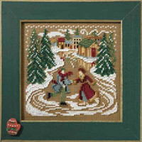 Skating Pond Cross Stitch Kit Mill Hill 2007 Buttons & Beads Winter