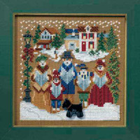 Caroling Cross Stitch Kit Mill Hill 2008 Buttons & Beads Winter