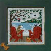 Lakeside Retreat Cross Stitch Kit Mill Hill 2007 Buttons & Beads Spring