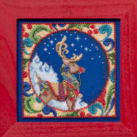Reindeer Bead Cross Stitch Kit Mill Hill 2014 Jim Shore Winter JS30-4101