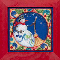 Snowman Bead Cross Stitch Kit Mill Hill 2014 Jim Shore Winter JS30-4103