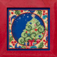 Tree Bead Cross Stitch Kit Mill Hill 2014 Jim Shore Winter JS30-4104