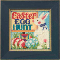Egg Hunt Cross Stitch Kit Mill Hill 2015 Buttons & Beads Spring MH145106
