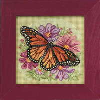 Winged Monarch Beaded Kit Mill Hill 2015 Buttons & Beads Spring MH145105