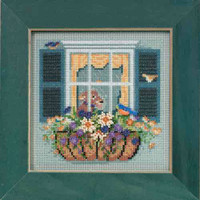 Window Box Cross Stitch Kit Mill Hill 2015 Buttons & Beads Spring MH145104