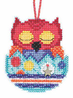 Huey Beaded Charmed Cross Stitch Kit Mill Hill 2015 Owlets MH165104