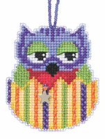 Violet Beaded Charmed Cross Stitch Kit Mill Hill 2015 Owlets MH165101