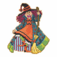 Mimi Beaded Cross Stitch Kit Mill Hill 2015 Hocus Pocus Trilogy MH195202