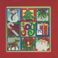 Joy of Christmas Cross Stitch Kit Mill Hill 2015 Buttons & Beads Winter MH145301