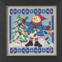 Mr Jack Frost Cross Stitch Kit Mill Hill 2015 Buttons & Beads Winter MH145303