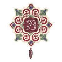 Christmas Letter Beaded Christmas Ornament Kit Mill Hill 2015 Winter Holiday MH185302